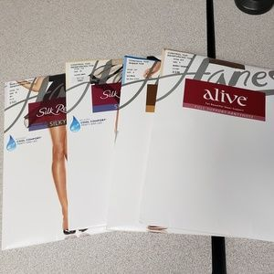4 Pairs of Hanes Hosiery Size E/EF